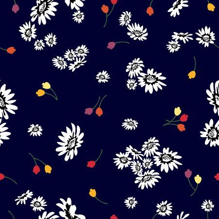 Retro textile collection. Template for dresses, scarves, cards and gift wrappings.