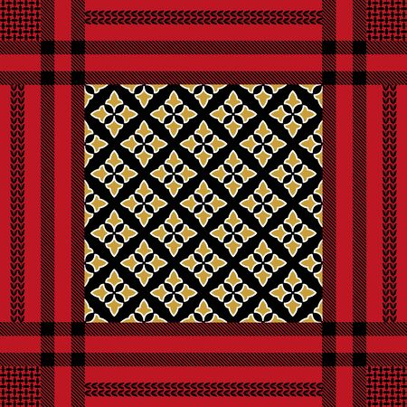 Template for scarves, plaids and other textile designs.