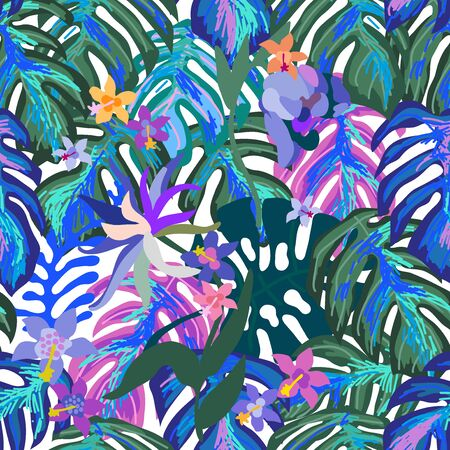 Aloha textile collection. Template for scarves, dresses, swimwear.