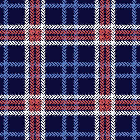 Template for scarves, plaids, shirts, napkins. Blue, white, red.