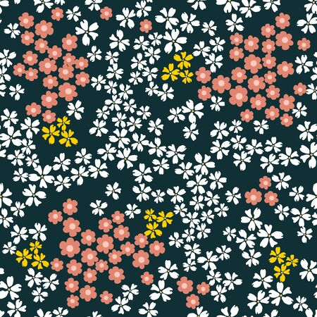 Template for scarves, dresses, cards, gift wrapping. Vintage textile collection. Vectores