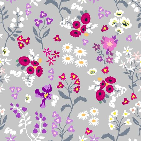 Vintage collection. Template for textile design, cards, wallpapers, gift wrappings.