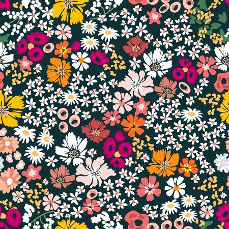 Vintage collection. Template for textile design, cards, wallpapers, gift wrappings. Ilustrace