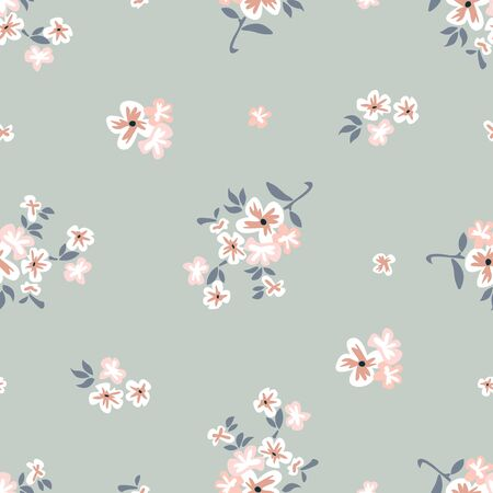 Retro textile collection. Seamless vector pattern.