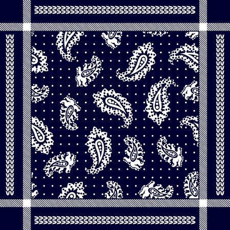 Man fashion textile collection. White on dark blue background.