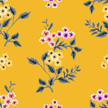 Retro textile flower collection