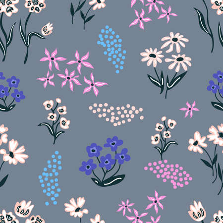 Seamless vector pattern. Retro textile collection. Ilustrace