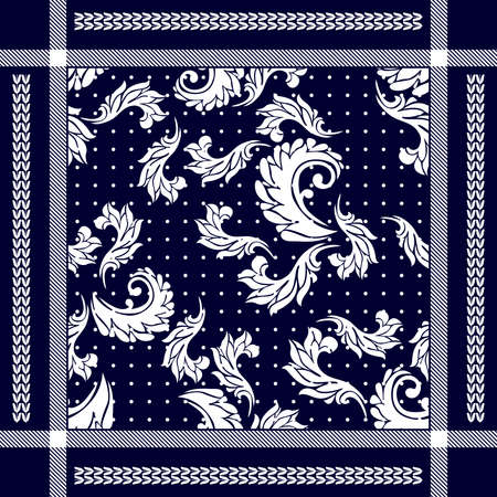 Man fashion textile collection. White on blue background.