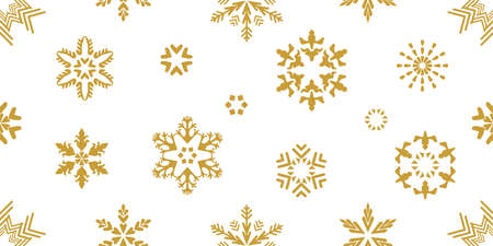 Template for gifts, cards, flyers. Golden on white.