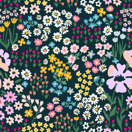 Retro textile collection. Template for dresses, scarves.