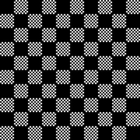 Template checkers in black and white design