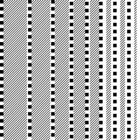 Template pattern in black and white 矢量图像