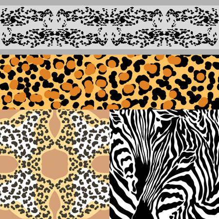 Seamless pattern of animal skin