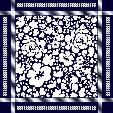 Man fashion textile collection. White on blue background.