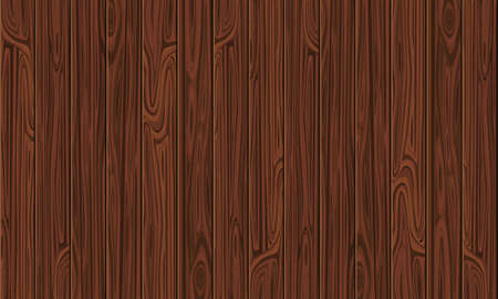 Background from brown wooden vertical planks, wood texture. Banner design with copy space. Vector stock illustration.