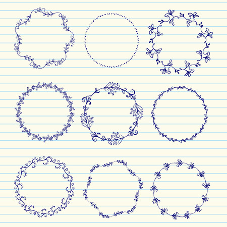 sketched arrows: Hand drawn set of vintage elements, flowers and leaves, birds, ribbons and ornaments. Vector hand sketched wreaths. Decoration for your wedding design, scrapbooking elements, postcards and logos