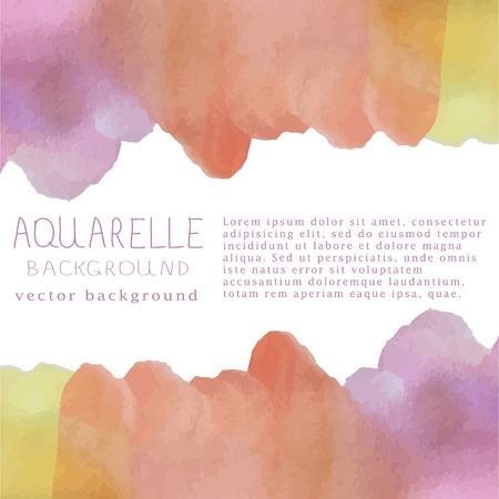 illustration of watercolor background Vettoriali