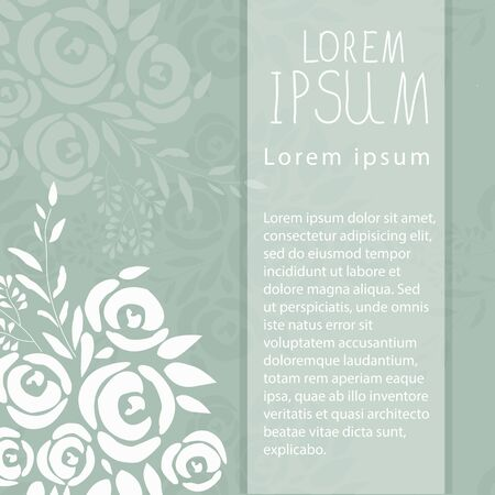 illustration of floral template with signature
