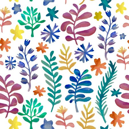 watercolor floral collection. Awesome flower template. Hand drawn design elements Vettoriali