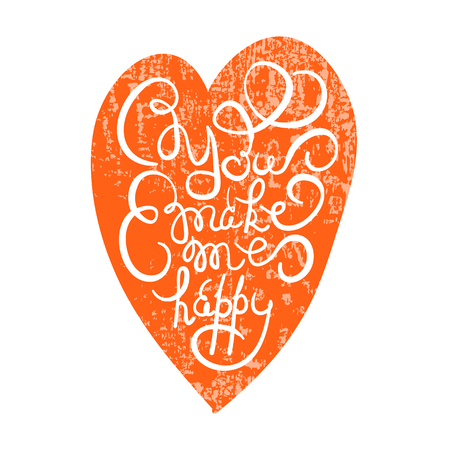Heart with hand drawn typography poster. Romantic quote \