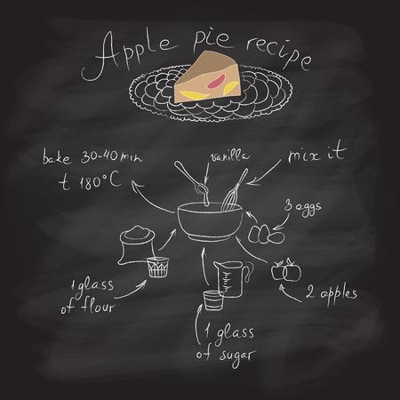 pastel de manzana: