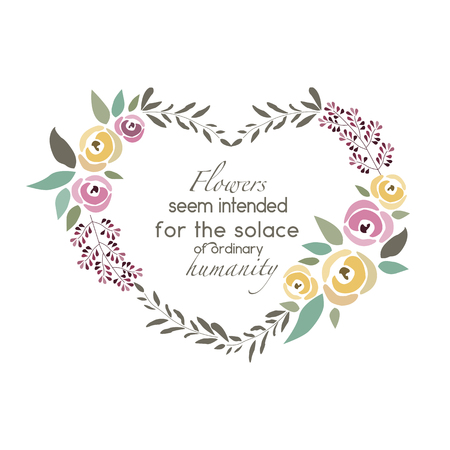 signature: illustration of flower wreath template with signature