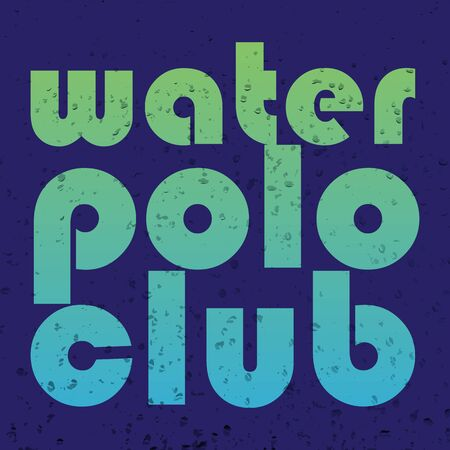 illustration with signature water polo club in flat design style on textured background