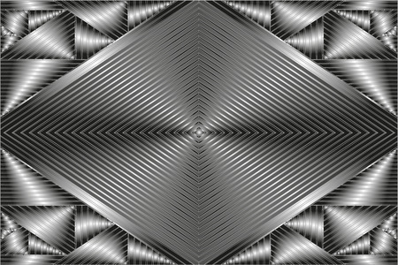 shiny metal background: metal abstract background, white, black and gray colour. Silver shiny grayish-white metal Illustration