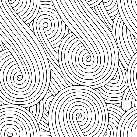 Abstract seamless background with doodle style, zen tangle for you design or adult coloring book
