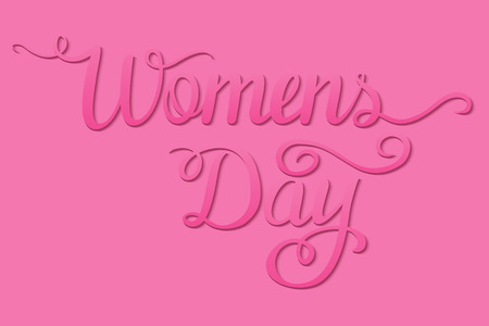 International Womens Day. Lettering design. Vector illustration
