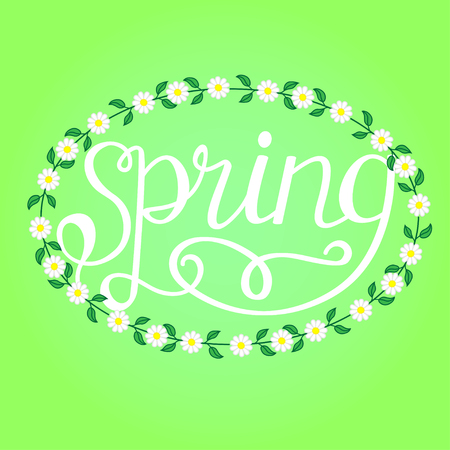 Spring hand drawn inspiration quote. Vector typography design element. Spring quote poster.