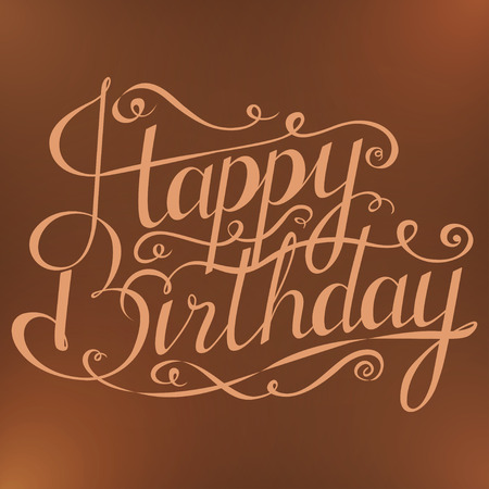 Happy birthday greeting card with calligraphy on white background happy birthday inscription greeting card with calligraphy hand drawn design vector bookmarktalkfo Choice Image
