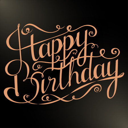 Happy birthday greeting card with calligraphy on white background happy birthday inscription greeting card with calligraphy hand drawn design black and white bookmarktalkfo Choice Image