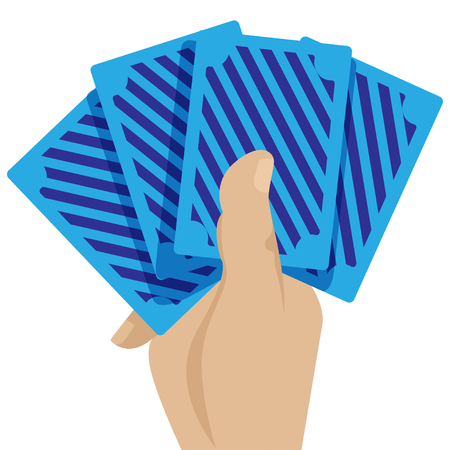 Casino cards in the hand game concept icon vector illustration graphic design, vector illustration