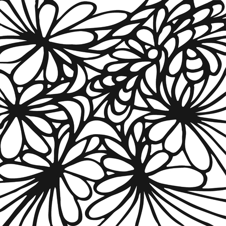Abstract hand drawn background. Doodle pattern. Vector illustration Illustration