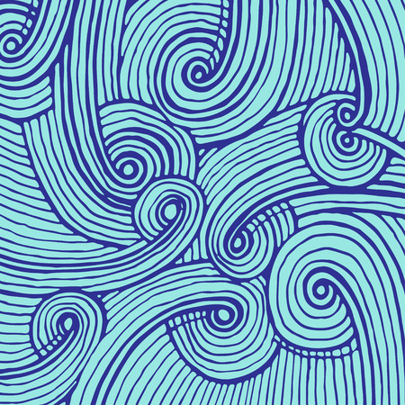 Abstract background of doodle hand drawn lines. Colorful pattern.