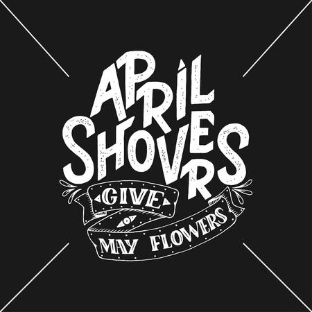 April Showers give mayflowers banner.