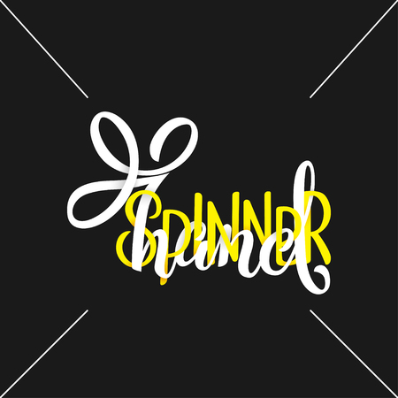 Hand Spinner Lettering. Childrens toy for hands. Hand spinner tricks. Banner element.