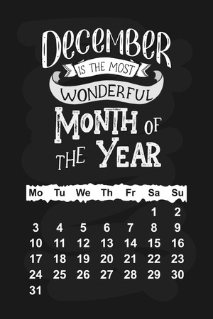 calendar for hand drawn lettering quotes for