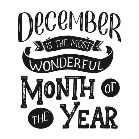 Lettering disegnato a mano decorativo. Frase scritta a mano buon Natale isolato su sfondo nero. Disegno vettoriale alla moda per la decorazione di Natale e manifesti, illustrazione vettoriale. Archivio Fotografico - 90965684
