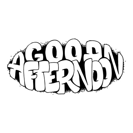 Good afternoon hand drawn lettering for posters, prints and more
