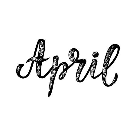 April lettering.