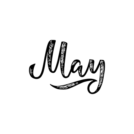 May lettering.