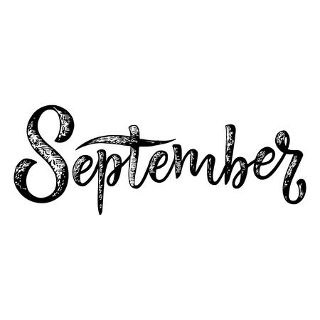 September lettering.