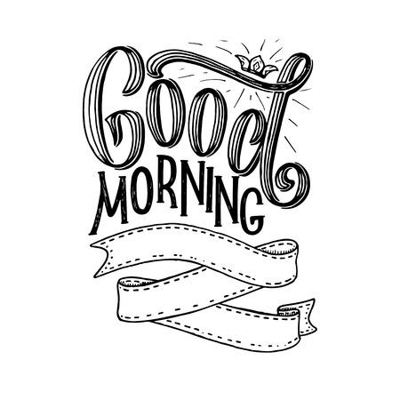 Hand belettering citaat met schetsen voor coffeeshop of café. Hand getrokken vintage typografie collectie geïsoleerd op een witte achtergrond. Vector