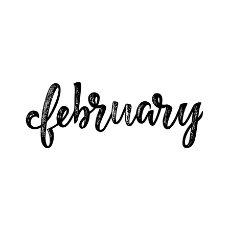 handwritten name of month calligraphy word for calendars and
