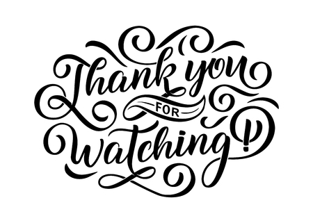 Thank you for watching cover, banner template for your Video Blog Article Presentation. Trendy background with text Vektoros illusztráció