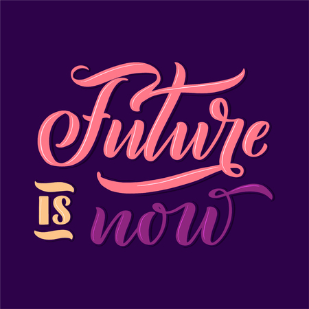 Lettering composition for posters. Motivational quote about gadgets and technology. Hand drawn vector illustration. Stock Illustratie