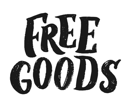 free goods lettering, vector illustration