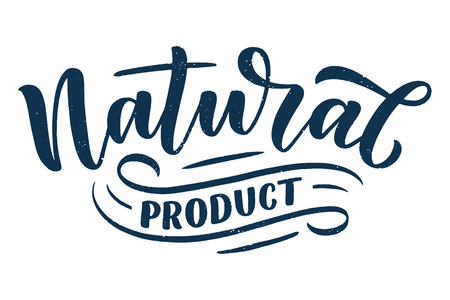 Lettering quote, great design for any purposes. Vector slogan illustration. Tasty breakfast. Diet food. Pasture, healthy nutrition. Illustration